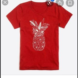 Jcrew factory embroidered pineapple T